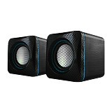 AUDIOBOX U-Cube USB Powered 2.0 Speakers - Black Blue - Speaker Computer Basic 2.0
