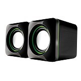 AUDIOBOX U-Cube USB Powered 2.0 Speakers - Green (Merchant) - Speaker Computer Basic 2.0