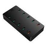 AUKEY USB Charging Station 10 Port 60W [PA-T8] - Black (Merchant) - Charger Handphone
