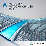 AUTODESK AutoCAD Civil 3D 2017 3-Year Subscription with Basic Support - Software Animation / 3d Licensing