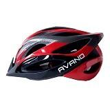 AVAND Helm Sepeda 06 - Red Black - Helm Sepeda