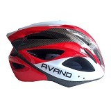 AVAND Helm Sepeda 06 b - Red White - Helm Sepeda