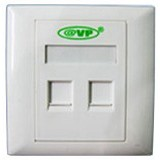 AVP RJ45 Double Faceplate [AVP-86X86DSF] - Faceplate