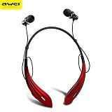 Awei In-Ear Stereo Sport Headset [A810BL] - Red (Merchant) - Headset Bluetooth