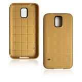B-SAVE Dots Back Cover for Samsung S5 - Gold - Casing Handphone / Case