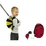 BABY SAFE Kids Harness Beetle - Red (Merchant) - Tas / Carrier Kucing