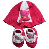 BABY WAREHOUSE Bear Hat - Red