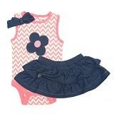 BABYZANIA Babywork Dress Flower 12M [15052] - Dress Bepergian/Pesta Bayi dan Anak