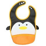 BABYZANIA Smart Baby Bib with Pocket Penguin [CD445] - Celemek Bayi / Bib