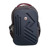 BAG & STUFF Bougger Emboss Laptop Backpack - Abu (Merchant) - Notebook Backpack