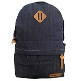 BAG & STUFF Denim Respect Backpack Plain - Blue (Merchant) - Backpack Pria