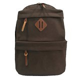BAG & STUFF Korean Universal Backpack - Brown (Merchant) - Shoulder Bag Pria
