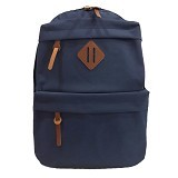 BAG & STUFF Korean Universal Backpack - Navy (Merchant) - Shoulder Bag Pria