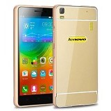 BAKULANS Metal Bumper Case for Lenovo A6000 - Gold (Merchant) - Casing Handphone / Case