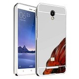 BAKULANS Metal Bumper Mirror Slide Back Cover for Xiaomi Redmi 2 Prime - Silver (Merchant) - Casing Handphone / Case