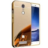 BAKULANS Metal Bumper Mirror Slide Back Cover for Xiaomi Redmi 2 Prime  - Gold (Merchant) - Casing Handphone / Case