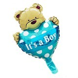 BALON HUT Balon Foil Baby Bear Its a Boy - Blue (Merchant)