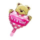 BALON HUT Balon Foil Baby Bear Its a Girl - Pink (Merchant)