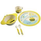 BAMBOO STUDIO Animals Mealtime Set Busy the Bee [BS-busy] - Perlengkapan Makan dan Minum Bayi
