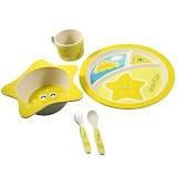 BAMBOO STUDIO Animals Mealtime Set Happy the Starfish [BS-happy] - Perlengkapan Makan dan Minum Bayi