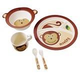 BAMBOO STUDIO Animals Mealtime Set Mabel the Monkey [BS-mabel] - Perlengkapan Makan dan Minum Bayi