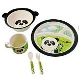BAMBOO STUDIO Animals Mealtime Set Parker the Panda [BS-parker] - Perlengkapan Makan dan Minum Bayi