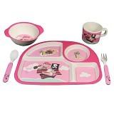 BAMBOO STUDIO Foodware Kids Set Pirate [EDB0006] - Pink - Perlengkapan Makan dan Minum Bayi