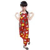 BANANANA Overall Anak Love Kiss Me 729 Size 2 [729-MRH210] - Red