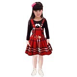 BANANANA Overall Skirt Anak Lemontache 728 Size 5 [728-MRH15] - Red