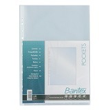 BANTEX Pocket Antiglare 0.06mm Thickness Folio 20 Sheets [8044-08] - Clear Sleeve