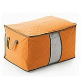 BARUZI Bamboo Storage Box large size - Orange (Merchant) - Container
