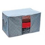 BARUZI Bamboo Storage Box small size - Gray (Merchant) - Container