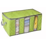 BARUZI Storage Box Bamboo Charcoal 3 Layer - Green (Merchant) - Container