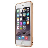 BASEUS Fusion Pro Series Metal Bumper + TPU Back Case for Apple Iphone 6 - Black/Gold (Merchant) - Casing Handphone / Case