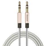 BASEUS Fluency Series AUX Audio Cable 3.5mm Male To Male 1.2m - Rose Gold (Merchant) - Cable / Connector Analog