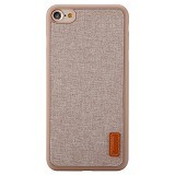 BASEUS Grain Case For Apple iPhone 7 Plus - Khaki (Merchant) - Casing Handphone / Case