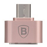 BASEUS Plug And Play Micro OTG Adapter - Rose Gold - Cable / Connector USB