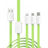 BASEUS String Series Micro USB Lightning Type-C Cable - Grass Green (Merchant) - Cable / Connector Usb