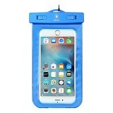 BASEUS Waterproof Bag for 5.5 inch - Blue - Plastik Handphone / Waterproof