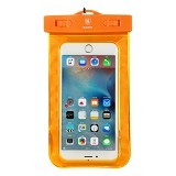 BASEUS Waterproof Bag for 5.5 inch - Orange - Plastik Handphone / Waterproof