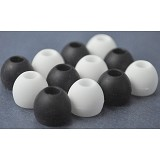 BASIC Silicone Eartips - Black/White - Headphone Tips & Pads