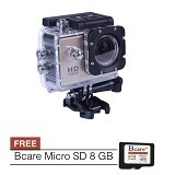 BCARE B-Cam X-1 + Micro SD 8 GB - Gold - Camcorder / Handycam Flash Memory