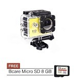 BCARE B-Cam X-1 + Micro SD 8 GB - Kuning - Camcorder / Handycam Flash Memory