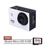 BCARE B-Cam X-1 + Micro SD 8 GB - Putih - Camcorder / Handycam Flash Memory