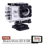 BCARE B-Cam X-1 + Micro SD 8 GB - Silver - Camcorder / Handycam Flash Memory
