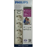 PHILIPS Surge Protector [PSK4L1.8M] - White (Merchant) - Surge Protector / Suppressor