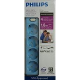 PHILIPS Surge Protector [PSK4L3.6] - Blue (Merchant) - Surge Protector / Suppressor