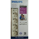 PHILIPS Surge Protector [PSK4L3.6] - White (Merchant) - Surge Protector / Suppressor