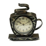 "BEST PONGS Coffee Cup Shaped Wall Clock 9.5"" - Jam Dinding"