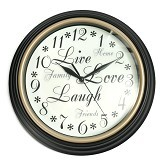 "BEST PONGS Round Inspirational Dial Wall Clocok 12"" - Jam Dinding"